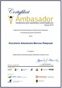 06.07.2016 ambasador innowacyjność